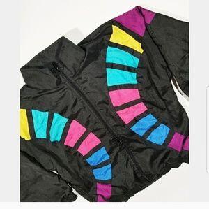 Vintage Colorblock 80's 90s Street Pop Windbreaker